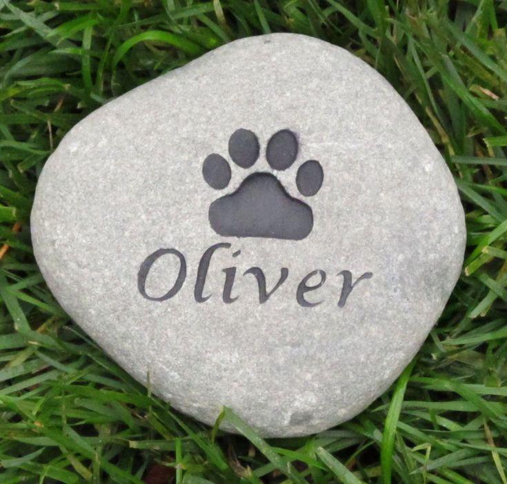 Pet Memorial Stone, Dog, Cat, Pet Grave Marker 5-6 Inch
