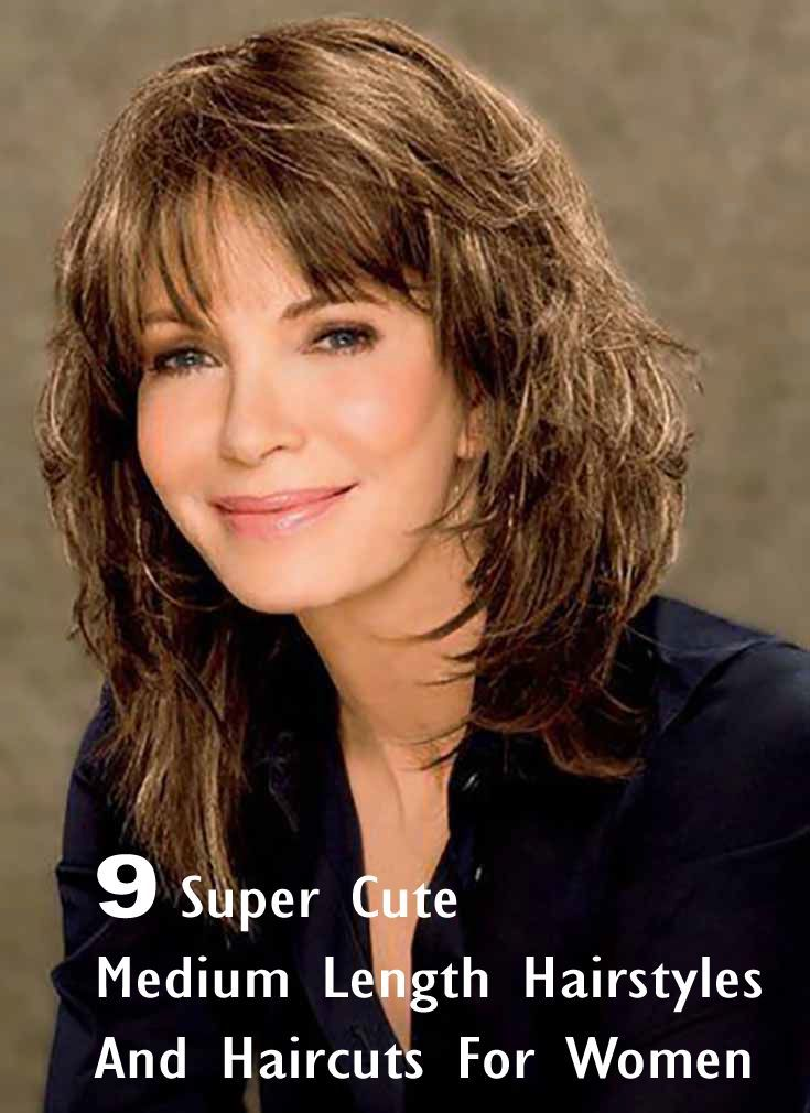 9 Super Cute Medium Length Hairstyles And Haircuts For ...