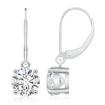 solitaire diamond drop earrings - Google Search