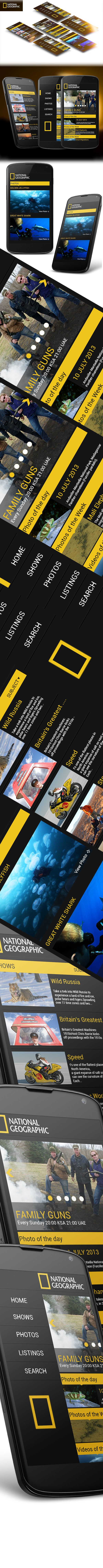 National Geographic Android App by Mohamed Monem, via Behance