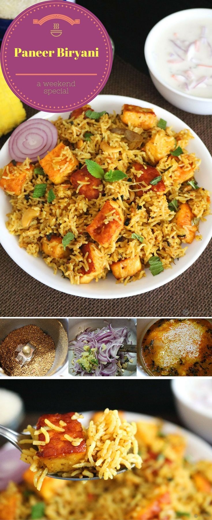 Paneer Biryani is a super delicious and aromatic Indian rice entree made using fragrant basmati rice, cubes of paneer (Indian cottage cheese) and spices. Perfect to make for the weekend.