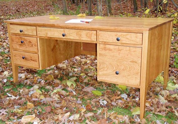 "Federalist Style Cherry Desk  Maker's by CustomFurnCreations Custom 60"" x 32"" $1210"
