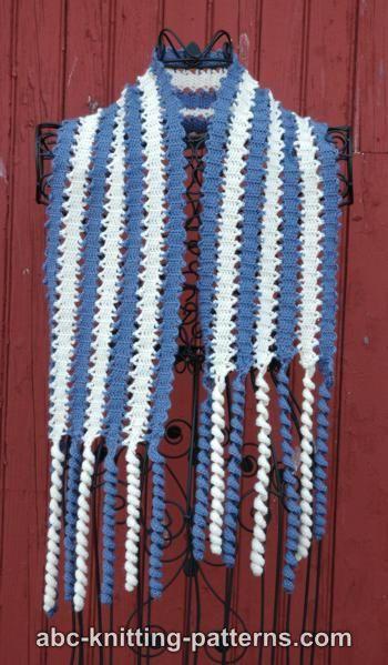 Knitting Pattern For Corkscrew Scarf : Bruges Lace Scarf with Corkscrew Fringe crochet - bruges Pinterest