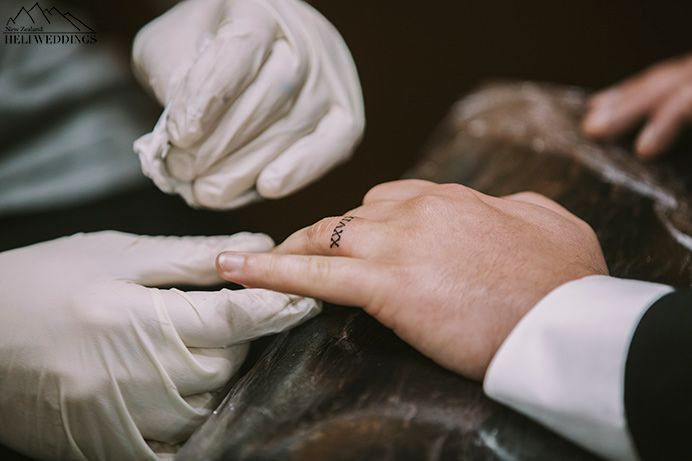 Doing a wedding ring tattoo on your wedding day
