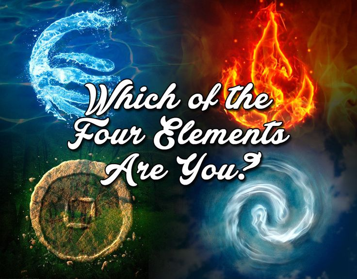How are you like the four elements?