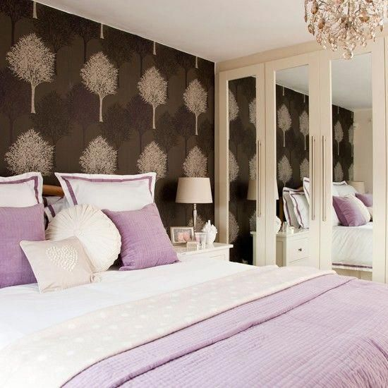 Lavender Bedroom With Feature Wall Bedroom Decorating Ideas
