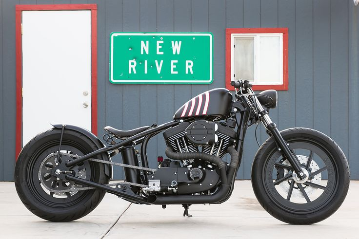 DP Customs' latest Sportster will soon be terrorizing the streets of Carefree, Arizona. It's a 2001 model with a custom hardtail and one-off wheels.