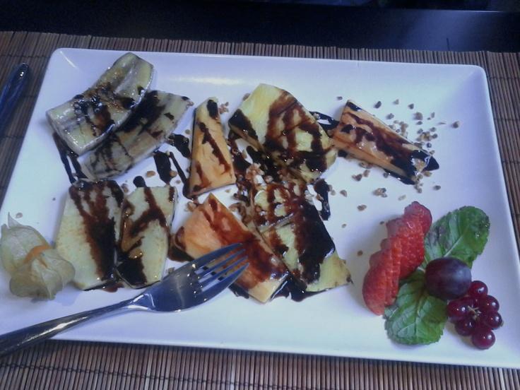 frutas variadas al Teppanyaki, en Seitaro #Sevilla