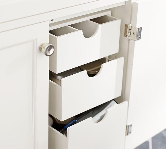 Sink Vanity Storage Drawers Diy Bathroom Pinterest