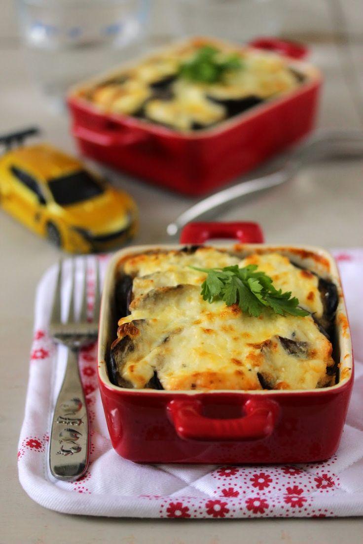 Gratin aux aubergines et au Kiri®, un plat réconfortant pour toute la famille ! #kiri #recette #gratin #aubergines #enfant #facile #fromage #aubergines