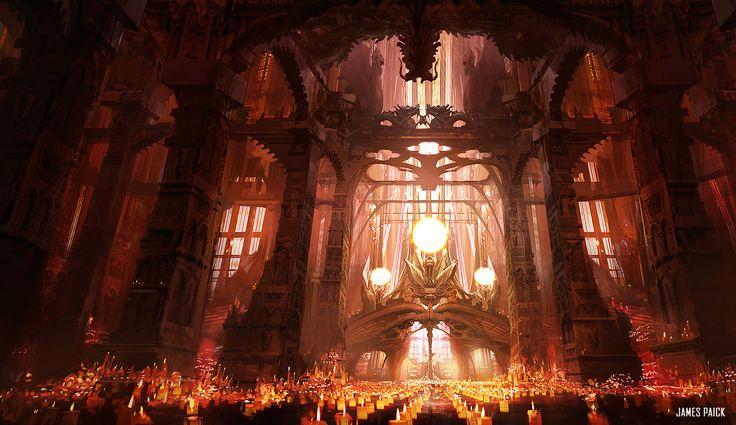 Dragon Light Cathedral, James Paick on ArtStation at https://www.artstation.com/artwork/dragon-light-cathedral