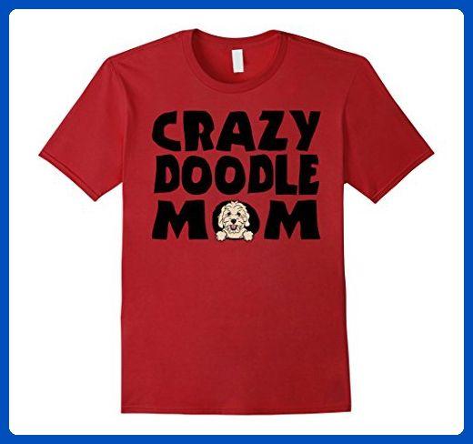 Mens Crazy Doodle Mom Goldendoodle Labradoodle Dog T-Shirt 3XL Cranberry - Relatives and family shirts (*Amazon Partner-Link)