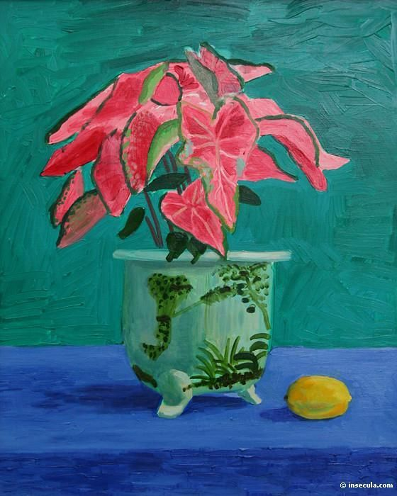 Painting by David Hockney