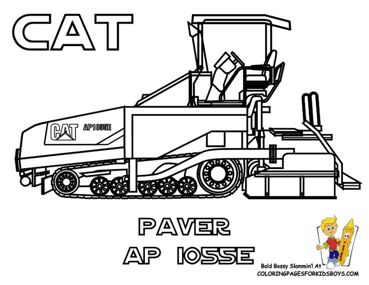 road construction equipment coloring pages - photo#6
