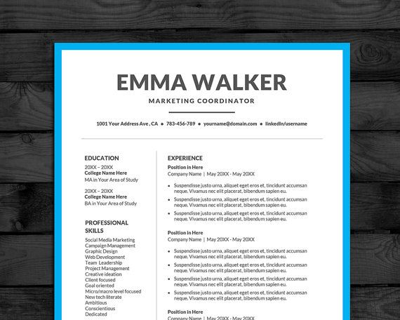 Resume templates 40 pinterest diy resume template for word 2 pages plus cover letter free writing guide yelopaper Choice Image