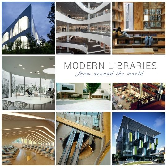 Modern #libraries from around the world