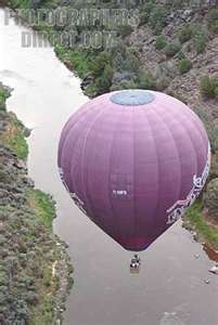 Hot Air Balloon Flying Over Rio Grande River ...