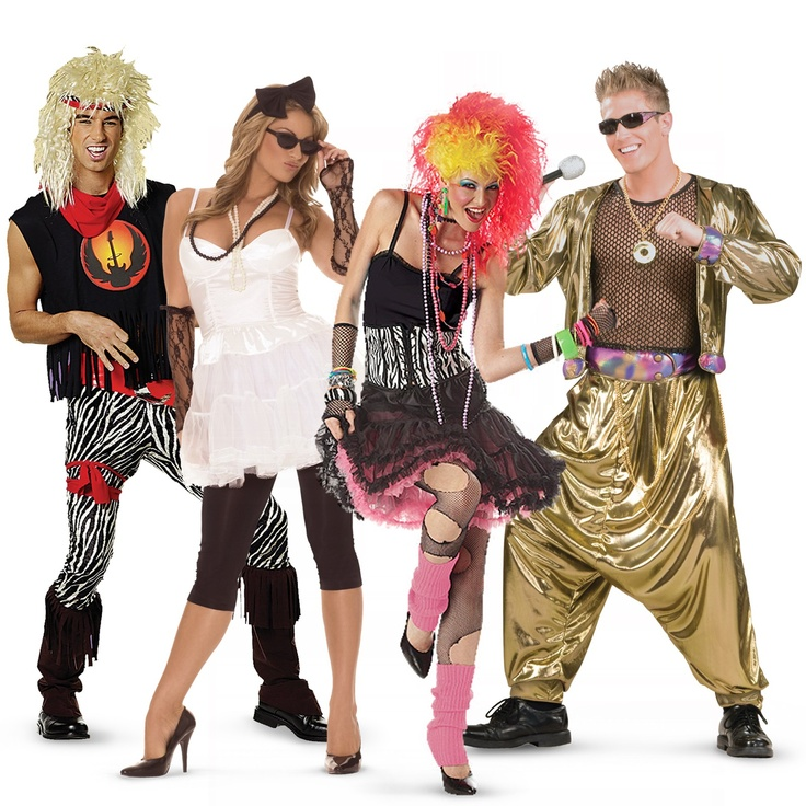 80s Rockstars Group Costumes