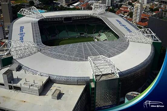 Alianz Parque Stadium opened in 2014, home of SE Palmeiras, one of the 3 large clubs of the city of São Paulo