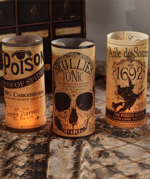 luminaries add a spooky glow and ambiance to your halloween table these vintage halloween inspired lumin