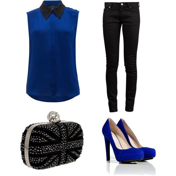 Outfits Zapatos Azules