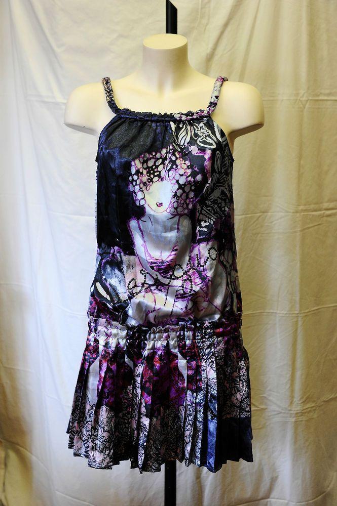 Vestido de verano tiras Desigual cadera baja falda plisada