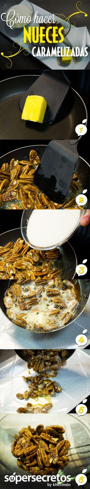 ¿Cómo caramelizar nueces?