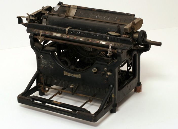 Amended typewriter  A writing device that has evolved to accomodate the brevity in modern attention spans.