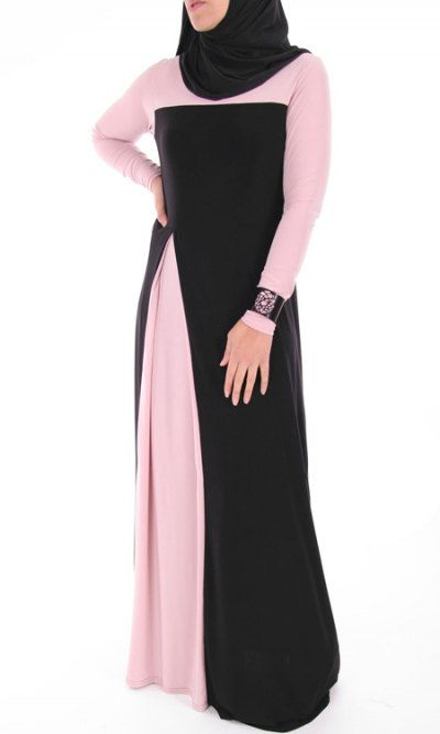 Two-toned abaya dress by ShopIslam on Etsy