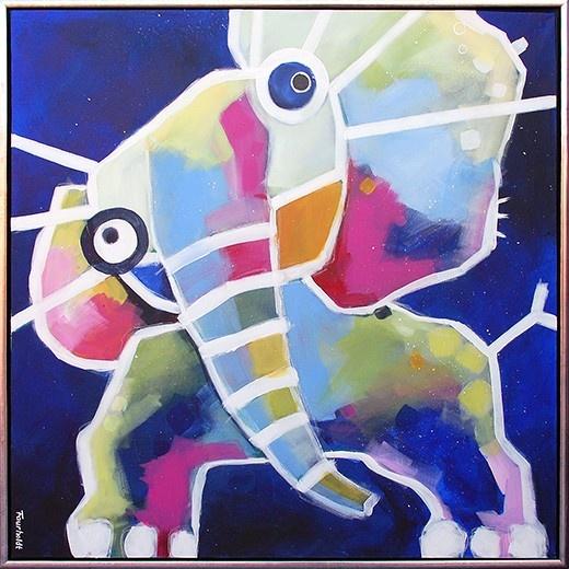 "Painting by Tine Faurholdt, Denmark. ""Elephant"""