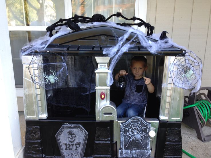 Little tikes playhouse redo haunted house