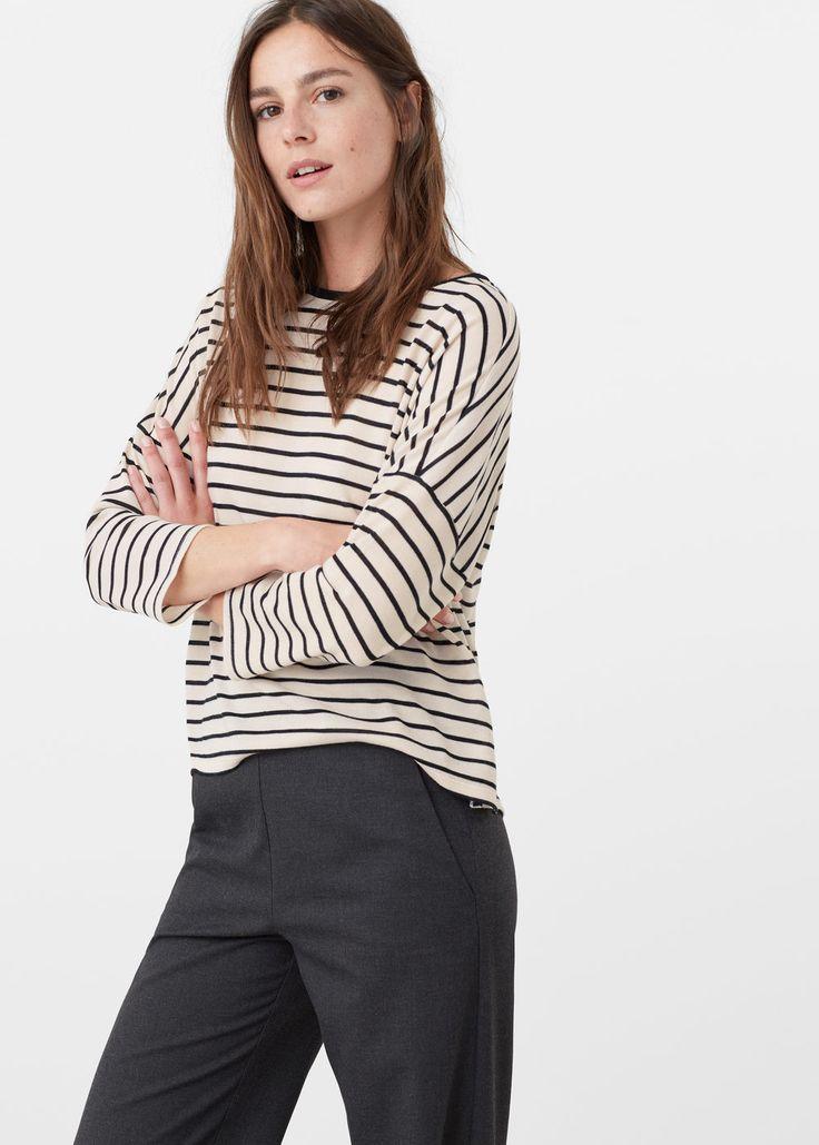 Fine-knit t-shirt   MANGO