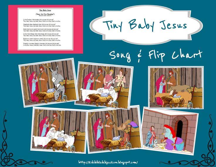 Kindergarten Calendar Flip Chart : Tiny baby jesus flip chart song more for kids