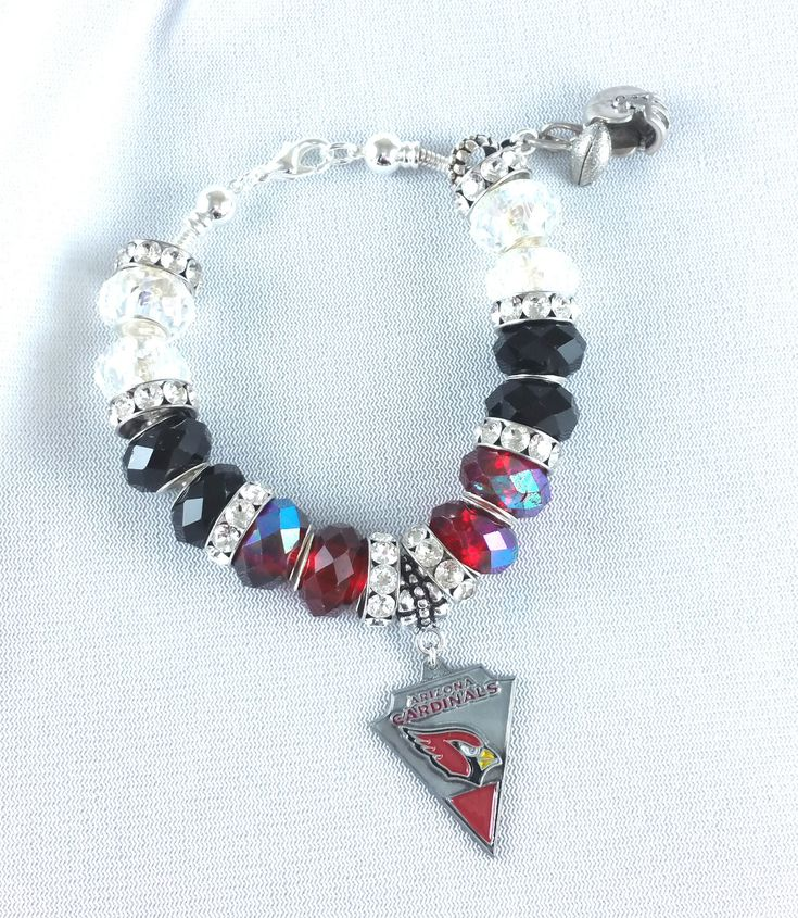 3-Day Flash Sale - 20% Off - Free Shipping #etsy shop: Football Bracelet - Arizona Cardinals - Football Bracelet - Charm Bracelet - Football Jewelry - Football Bracelets for Her http://etsy.me/2n6AP0j #jewelry #bracelet #footballbracelet #football #charm #forher