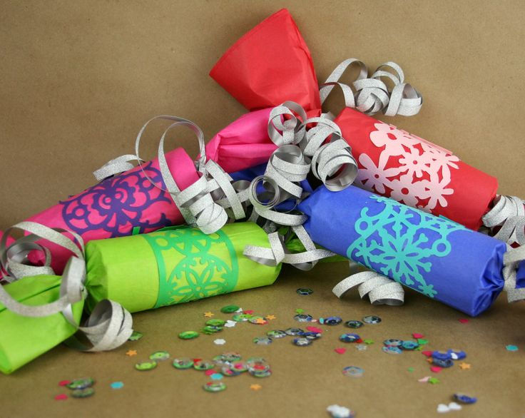 Wrap border punches around handmade party crackers! Perfect for a birthday or New Year's. www.fiskars.com
