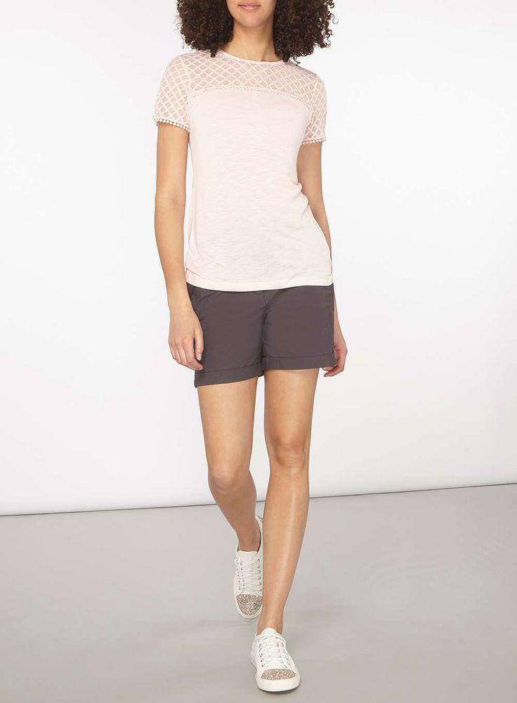 Womens **Tall Charcoal Shorts- Grey