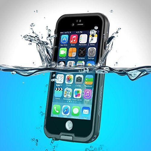 PhoneStar Premium wasserdichte Outdoor Schutzhülle für das iPhone. Staub-, wasser- und schneedicht. RUndumschutz in schwarz.
