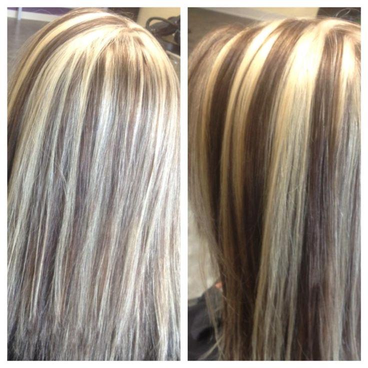 Chunky Blonde Highlights Dark Brown Lowlights Hurr