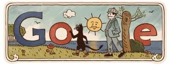 Google graphic dedicated to Josef Lada, Czech painter