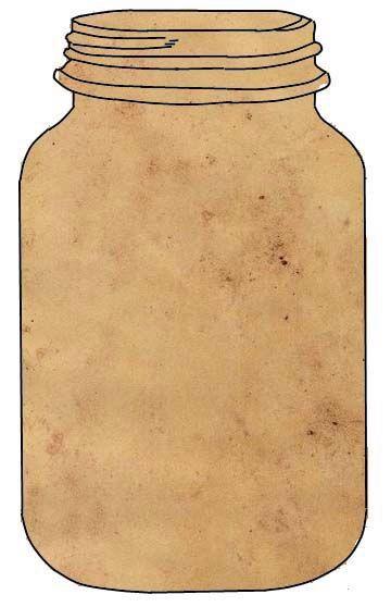 Открытка баночка шаблон, уголком