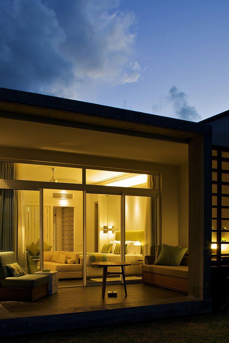 House design mauritius - Evening View Of The Villa At Long Beach Mauritius