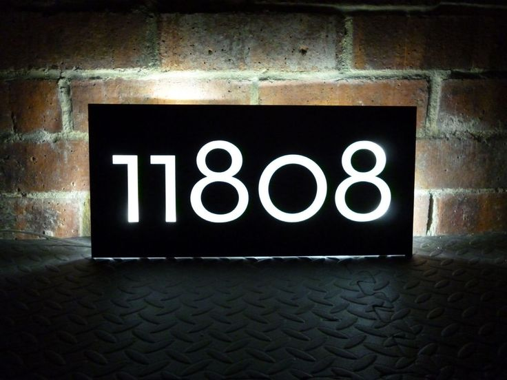 10 best house numbers images on pinterest illuminated. Black Bedroom Furniture Sets. Home Design Ideas