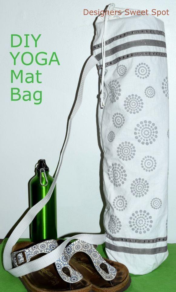 DIY Yoga Mat Bag|Designers Sweet Spot|www.designerssweetspot.com