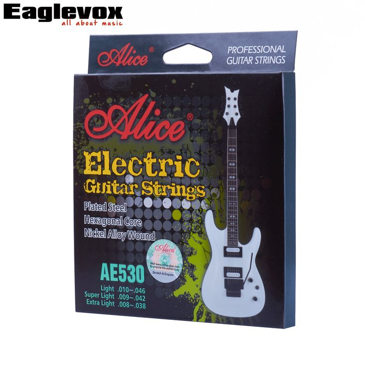 Electric Guitar Strings Plated Steel 009 010 inch Coated Nickel Alloy Wound Alice AE530 #Affiliate