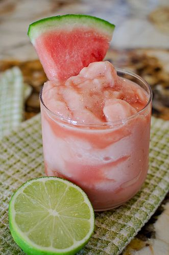 Watermelon Lime Frosty: Lime Frosty, Lime Juice, Food, Cups Watermelon, Maple Syrup, Limes, Drinks