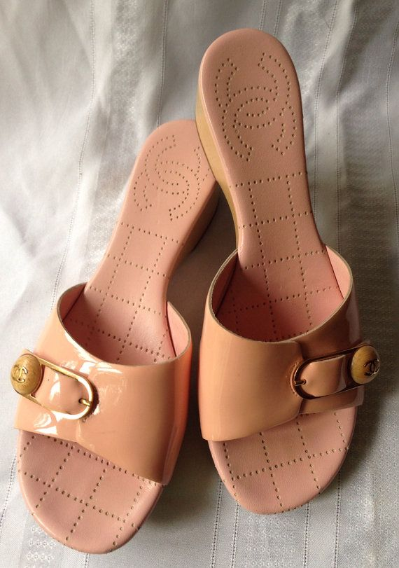 Authentic CHANEL carnation pink padded clog by TheElegantCollector
