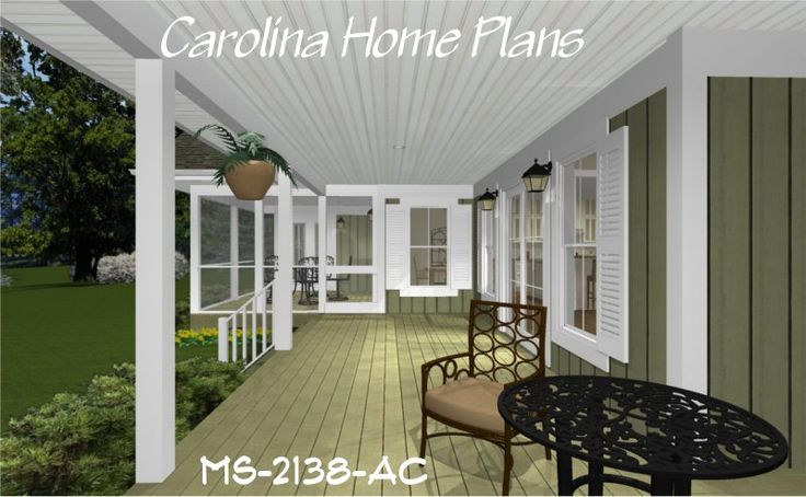 1000 images about house plans with porches on pinterest for Cottage house plans with screened porch