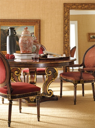 Henredon Arabesque Collection Dining Room With Round Dining Table. Henredon  Interior Design Showroom Suite 122 In MDC