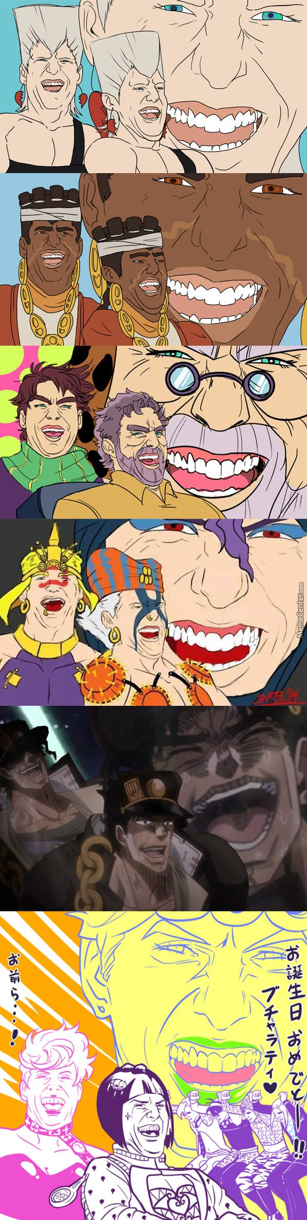 Tom Cruise Laughing X Jojo'S Bizarre Adventure