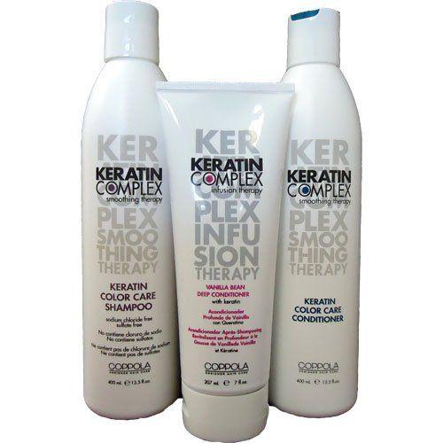 """Keratin Complex ColorCare Shampoo 13.5 oz+Conditioner 13.5 oz+Vanilla Deep Conditioner 7 oz """" Big Sale """" by Keratin Complex. $39.00. Keratin Complex Color Care Conditioner 13.5 oz. Keratin Complex Vanilla Deep Conditioner 7 oz. Keratin Complex Color Care Shampoo 13.5 oz. Keratin Complex Color Care Shampoo 13.5 oz////Keratin Complex Color Care Conditioner 13.5 oz/////Keratin Complex Vanilla Deep Conditioner 7 oz"""